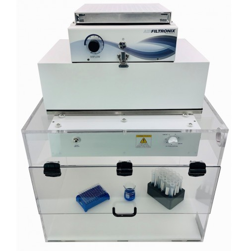 PCR Prep station, provides protection while preparing PCR Samples, Airfiltronix from GlasCol