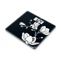 Beurer Glass Scale, 180 kg capacity, Floral printing, glass scale made of safety glass