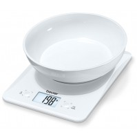 Beurer Kitchen Scale, 3 kg capacity, Automatic switch-off function, Includes weighing bowl (0.5 l)