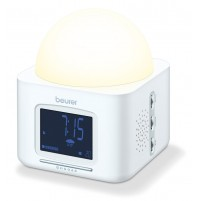 Beurer Dawn simulator-Wake up light with radio,Selectable alarm  sounds, Snooze function, Adjustbale light  intensity