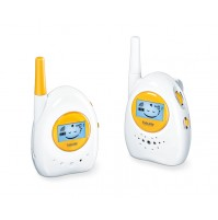 Beurer Baby Monitor Eco + Mode, Baby emotions on your display, Blue illuminated display to visually monitor the noise level