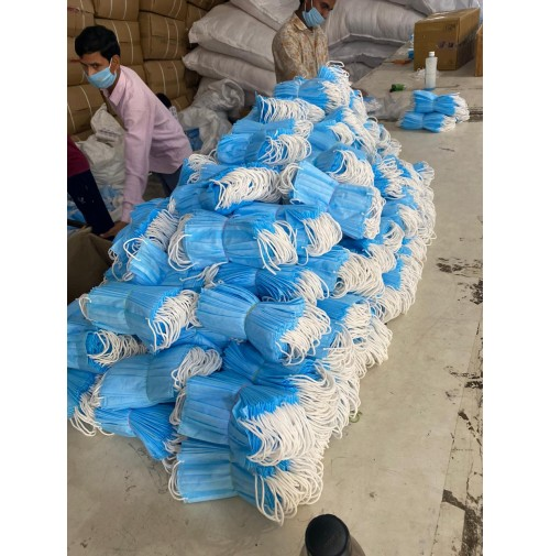 3-PLY MASKS AVAILABLE, QUALITY AS PER PICS, MOQ 50,000 RS.3.75 PER PC. SELLER IN DELHI