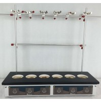 Glas-Col Combo mantle for six 100/125ml flat bottom flasks, low temp. 85W, 240V  Power control not included. (1Pc/Pk)