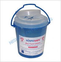 Disposafe Sharps Containers (Round With Handle),1L, (1Pc/Pack)
