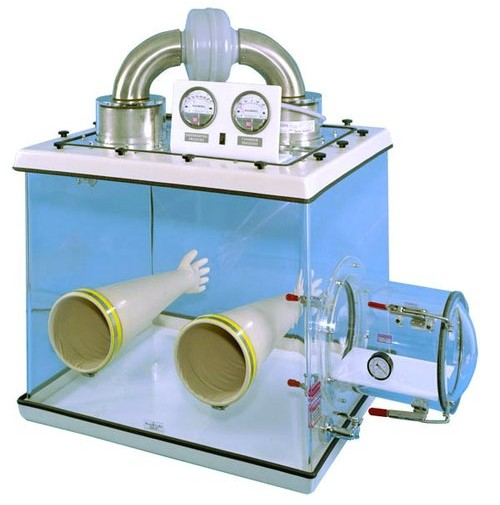 Glove Box with HEPA Filters With Continuous Circulation from Plas-Labs