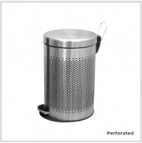 So clean's Pedal Bins, Perforated, Stainless steel, 5 L, Other options available