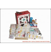 ST JOHN'S FIRST AID, INDUSTRIAL FIRST AID  KIT, LARGE,  METAL BOX WALL COUNTED WITH ACRYLIC DOOR, 168 COMPONENTS SJF M3
