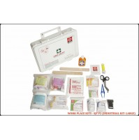 ST JOHN'S FIRST AID, WORKPLACE FIRST AID  KIT, LARGE,   PLASTIC BOX WALL MOUNTED, 155 COMPONENTS SJF P2