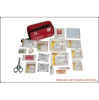ST JOHN'S FIRST AID, TRAVEL FIRST AID  KIT, MEDIUM POUCH, 63 COMPONENTS SJF T3