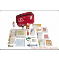 ST JOHN'S FIRST AID, TRAVEL FIRST AID  KIT, LARGE POUCH,77 COMPONENTS SJF T4