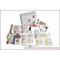 ST JOHN'S FIRST AID, MULTIPURPOSE FIRST AID  KIT, LARGE, VINYL CARDBOARD BOX, 124 COMPONENTS SJF V1
