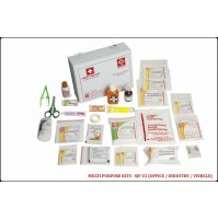 ST JOHN'S FIRST AID, MULTIPURPOSE FIRST AID  KIT, MEDIUM, VINYL CARDBOARD BOX, 73 COMPONENTS SJF V2
