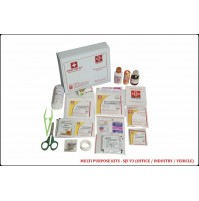 ST JOHN'S FIRST AID, MULTIPURPOSE FIRST AID  KIT, SMALL, VINYL CARDBOARD BOX, 60 COMPONENTS SJF V3