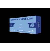 Abdos Brand - Skincare Blue Nitrile Gloves - 9.5 inches length (100 pcs.)