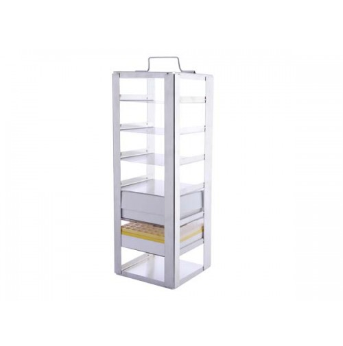 Abdos Chest / Vertical Freezer Racks, Stainless Steel, No. of Shelves - 4 ( Pack of 1 pc. )
