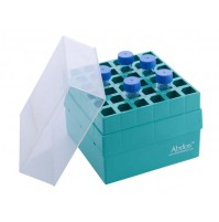 Abdos Centrifuge Tube Box, PP,15 ml, 36 (6 x 6 Array) places, 147 x 147 x 126 mm ( Pack of	4 pcs.)