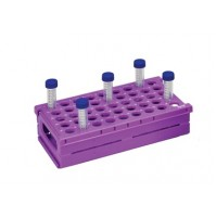 Abdos Foldable Space Savings Rack, PP, 15 ml, 45 (9 x 5 Array) Places, Purple, 255 x 137 x 72 mm ( Pack of 2 pcs.)