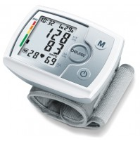 Beurer Wrist Blood Pressure Monitor, 60 memory spaces, Incl. batteries and storage bag