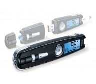Beurer Blood Glucose Monitor, 3-in-1 compact device, Blue illuminated, easy-to-read LCD display