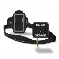 Beurer Heart Rate Monitor compatible with SmartPhones, with Chest Strap, armband