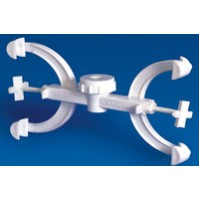 Laboplast Fisher Clamp, Double, PP (Pack of 6 Pcs)