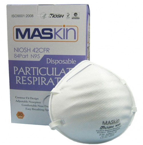 MCP NIOSH Swine flu mask (Dust Respirator Mask) N95 ( Pack of 20 pcs. )
