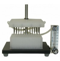 "Glas-Col Stand alone Evaporator 11 position with stand and flowmeter, 7""w x 5 1/2""d x 7 1/2"" h, Nylon (1Pc/Pack)"