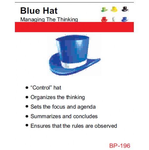 NSB Poster : Blue Hat - Managing the Thinking.
