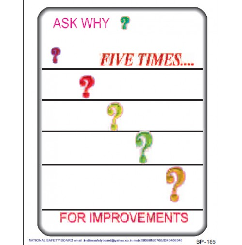 NSB Poster : Ask why? Five times...