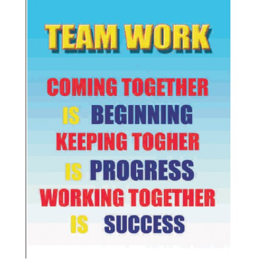 """working together leads to success They specifically examined the success rates (patient survival rates) of highly   assets of a given organization""""- a nice way of saying stars only shine due to  """" teamwork is the ability to work together toward a common vision."""